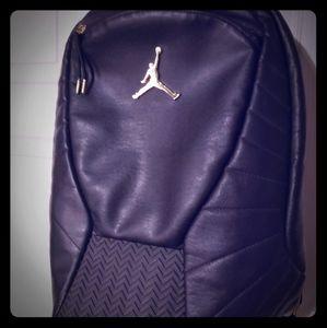 Jordan leather backpack